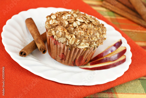 Apple Cinnamon Muffin topped with Granola