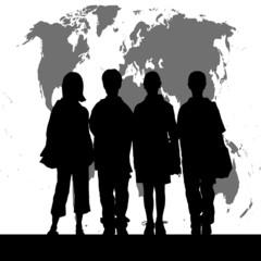 世界と子供