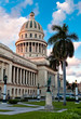 The Capitol building and gardens in Havana, Cuba at sunset
