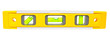 Spirit level isolated on a white background with clipping path