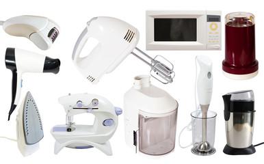 Set of  household appliance