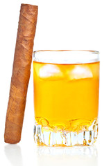 Whiskey, rum or any other alcoholic drink with a cuban cigar