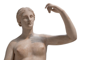 Greek statue of a nude Venus
