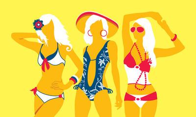 Summer swimsuit yellow