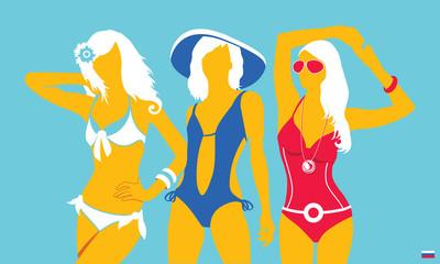 Summer swimsuit light-blue