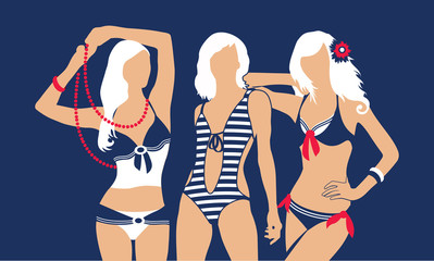 Summer swimsuit blue