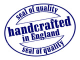 handcrafted in england seal of quality poster