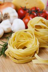 Italian fettuccine pasta