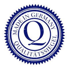 stempel qualitätssiegel made in germany