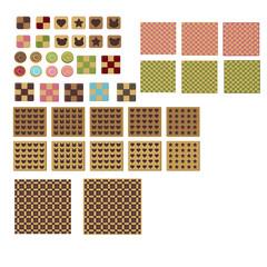 クッキー色々&パターン背景2