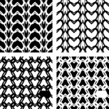 Seamless lacy knitted patterns. poster