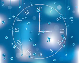 vector raindrops on glass