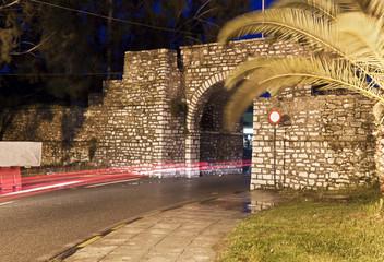 Historic martyric freedom gate at Mesologi of Greece
