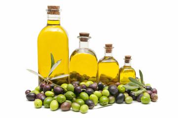 olive oil and fresh olives
