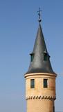 closeup of turret of castle of Segovia, Spain poster