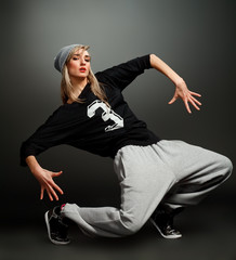 stylish hip hop girl