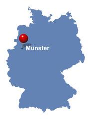 Münster auf der Deutschlandkarte
