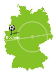 Fußballstadt Bochum Deutschlandkarte