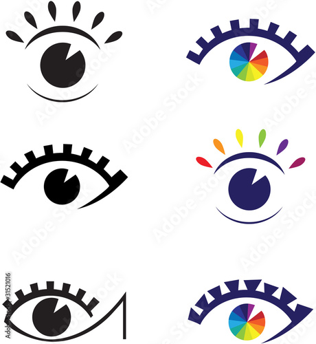 Icons of eyes. Element for design vector illustration.