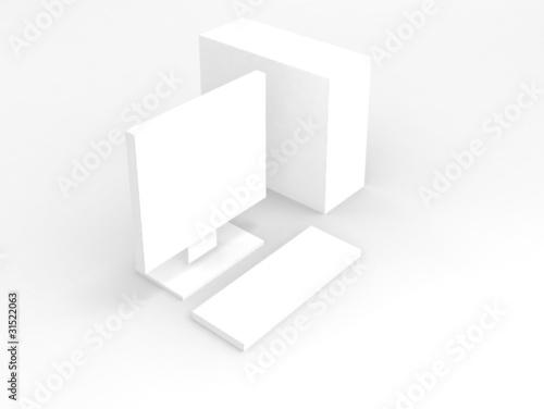 Computer. white on white