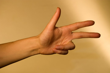 three fingers of woman
