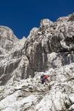 Dolomite - Civetta massif and climber