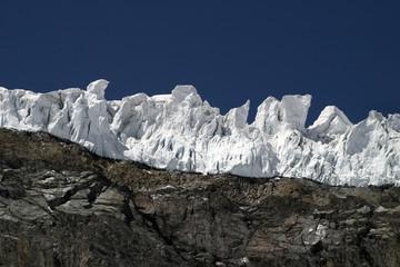 glacier in the alps - way to Allalinhorn