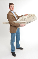 Man holding plans