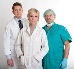 Serious medical staff