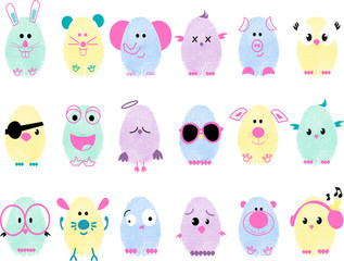 Baby set of animals