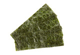 Pieces of seasoned dried seaweed