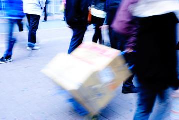 city people on street