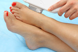 Laser hair removal on ladies feet