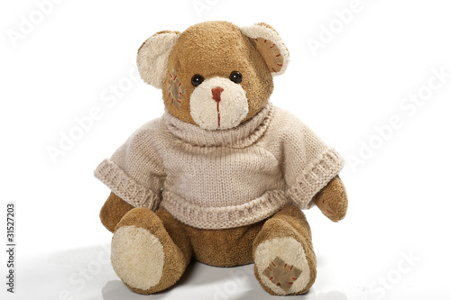 Teddy-bear isolated on a white background - 31527203