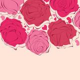 Romantic roses frame