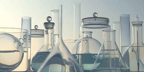 vetreria da laboratorio di chimica