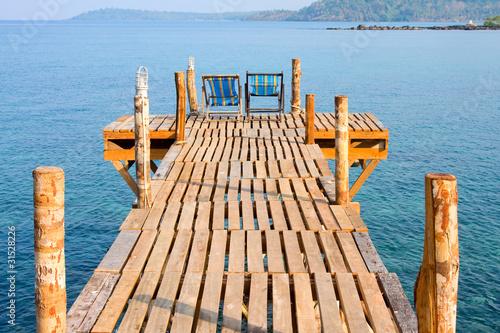 Wooden pier , Thailand - 31528226