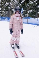 Girl Skiing, Whistler, BC, Canada