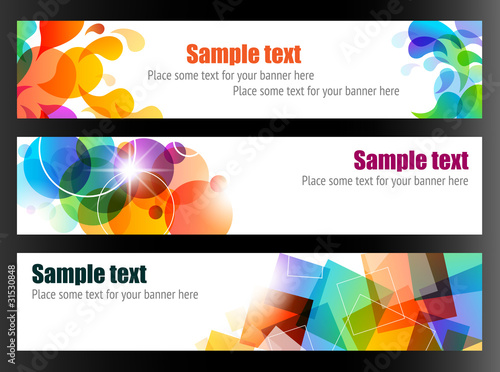 Elegant Colorful Banners