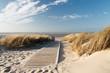 Leinwanddruck Bild - Nordsee Strand auf Langeoog