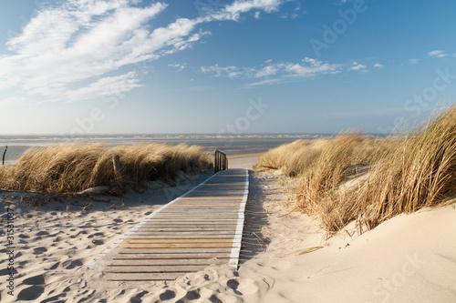 Fotobehang Strand Nordsee Strand auf Langeoog