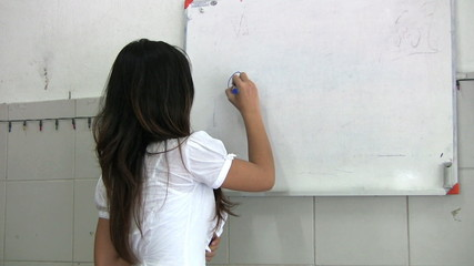 Thai Lady Teaching An English Class