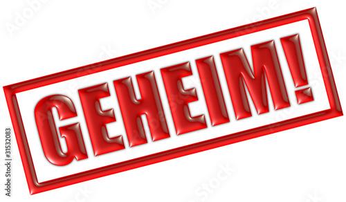 stempel rot geheim von daniel ernst lizenzfreies foto 31532083 auf. Black Bedroom Furniture Sets. Home Design Ideas