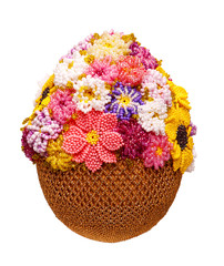 Egg with beads