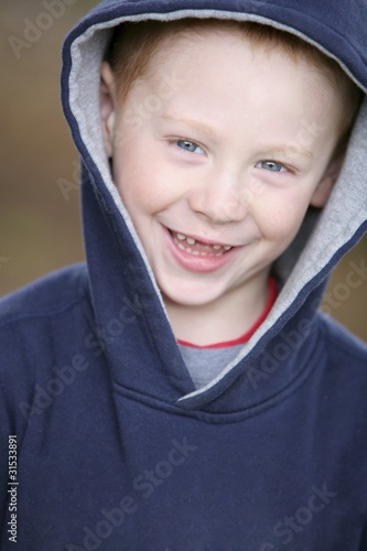 Boy In Blue Sweater