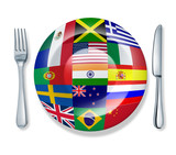 International cuisine poster