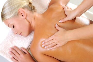 Woman takin massage