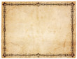 Blank Antique Paper With Victorian Border
