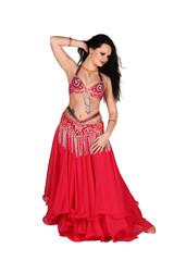 tanzende Frau in Rot