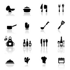 Icon set  Kitchen tools